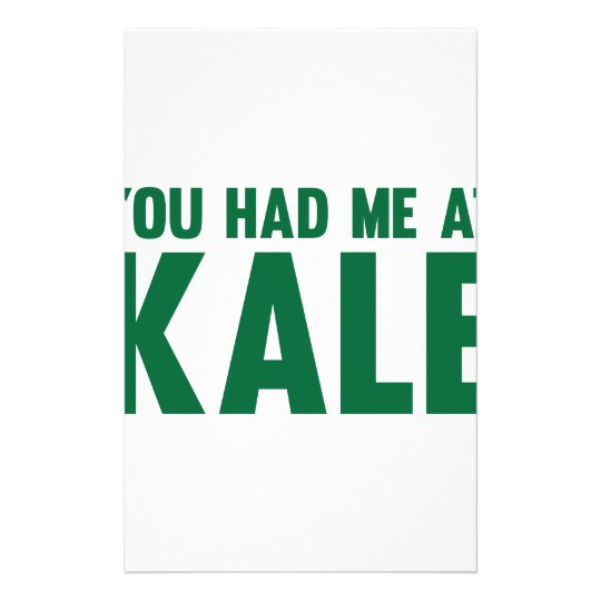 You Had Me At Kale Stationery
