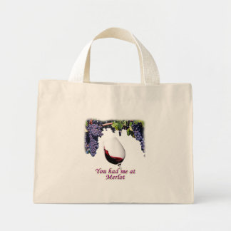You had me at merlot  #1 canvas bags