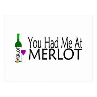 You Had Me At Merlot Postcard