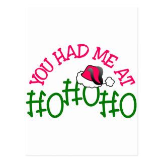 You Had Me Ho Ho Postcard