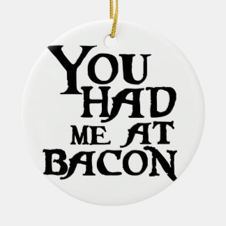 You had meat bacon christmas ornament