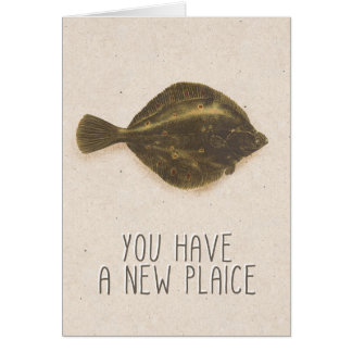 """You Have a New Plaice"" Kraft Housewarming Card"