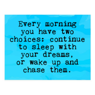 You Have Two Choices Quote Postcard