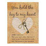 You Hold the Key to My Heart Post Cards