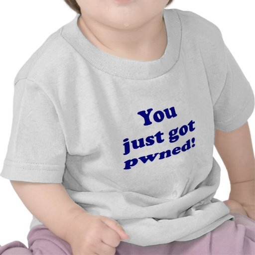 You just got pwned! t-shirts