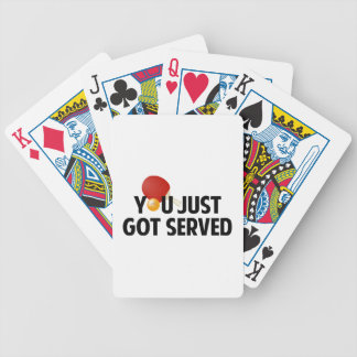 You Just Got Served Bicycle Poker Cards