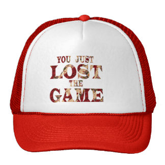 You just lost the game - Internet meme Cap