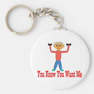 You Know You Want Me Basic Round Button Key Ring