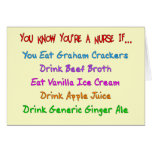 You Know You're A Nurse IF... Greeting Cards