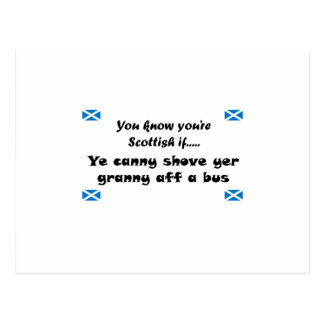 You know you're Scottish.... Postcard