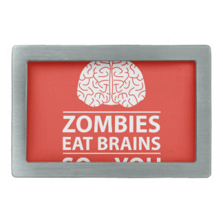 You Know - Zombies Eat Brains Joke Rectangular Belt Buckle