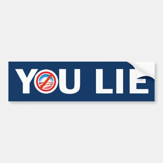 YOU LIE Anti Obama Bumper Sticker