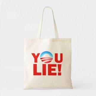 You Lie Barack Hussein Obama Canvas Bag