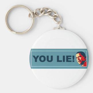 You Lie Basic Round Button Key Ring