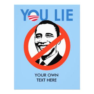 You Lie bumper sticker blue Flyer Design