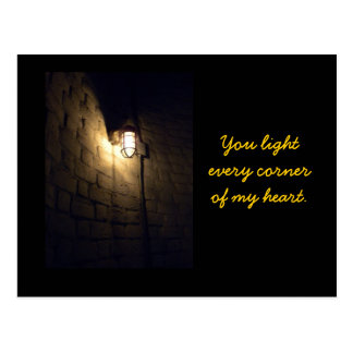 You Light Every Corner of My Heart Postcard