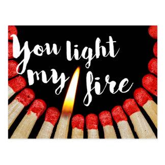You light my fire postcard