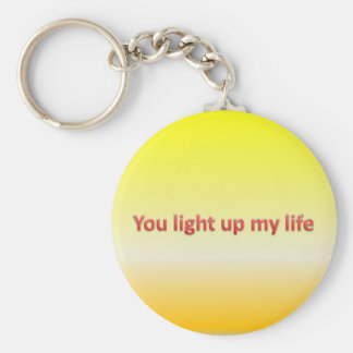 you light up my life basic round button key ring