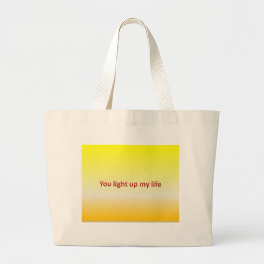 you light up my life large tote bag