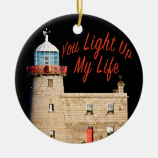 You Light Up My Life Round Ceramic Decoration
