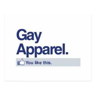 YOU LIKE GAY APPAREL -.png Postcard