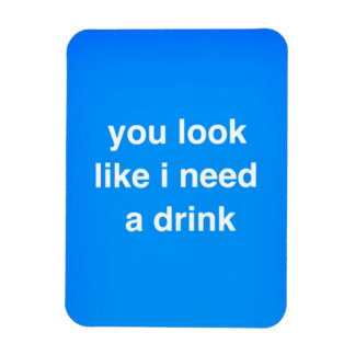 You look like I need a drink funny insults laughs Vinyl Magnet