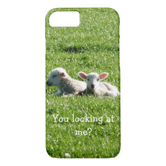 You Looking at Me? Cute Lambs iPhone 8/7 Case