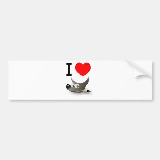You love GIMP? Show it! Bumper Stickers
