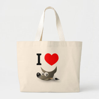 You love GIMP? Show it! Large Tote Bag