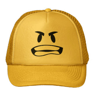 you mad bro? Angry emoji trucker hat