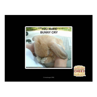 You make bunny cry postcard