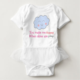 You Make Me Happy When Skies Are Grey tutu Baby Bodysuit