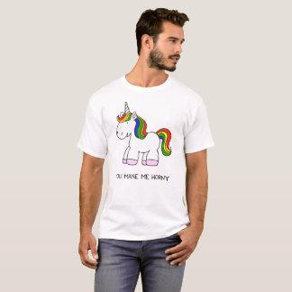 You Make Me Horny Unicorn Rainbow T-Shirt