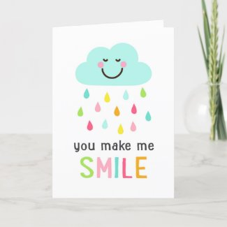 You make me smile friends friendship thank you card