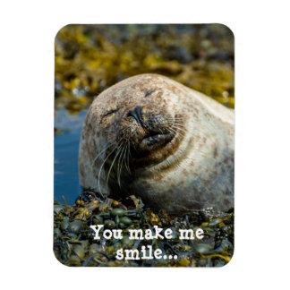 You make me smile rectangular magnet
