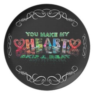 You Make My Heart Skip a Beat Party Plate