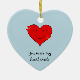 You make my heart smile christmas ornament