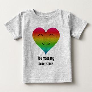 You make my heart smile LGBT rainbow Baby T-Shirt
