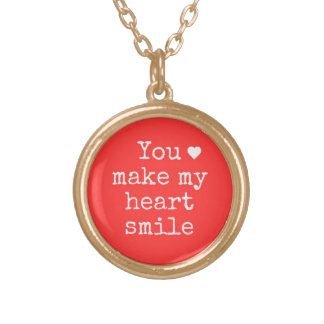 """""""You make my heart smile"""" necklace"""