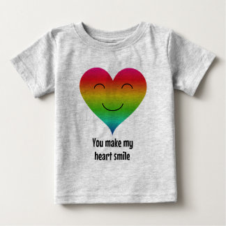 You make my heart smile rainbow baby T-Shirt