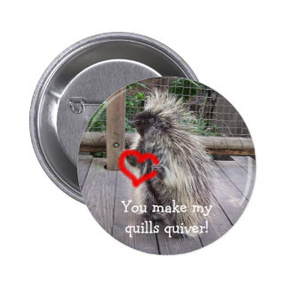 You Make My Quills Quiver! 6 Cm Round Badge