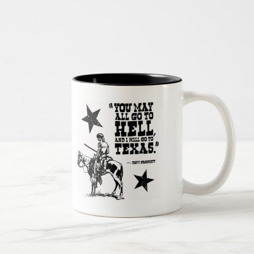 You may all go to hell... coffee mug
