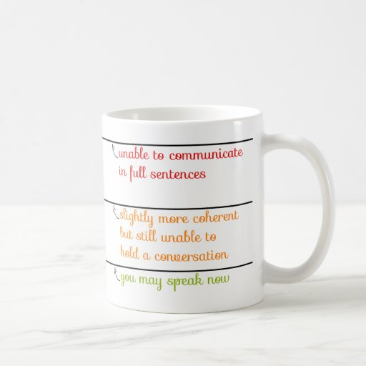You May Speak Now Mug with Fill Lines