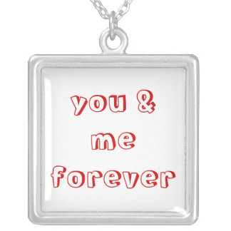 you & me forever square pendant necklace