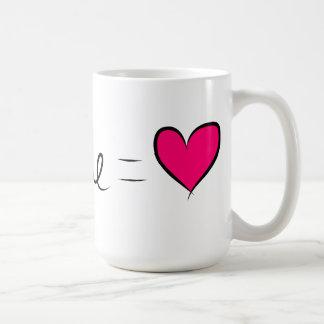 You & Me  = Love Basic White Mug