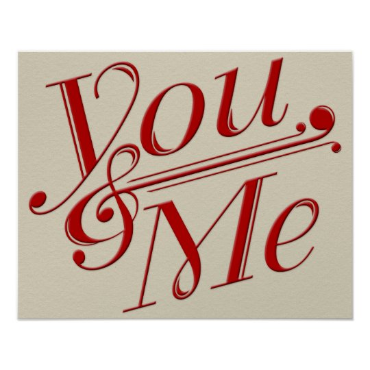 You & Me Poster Design