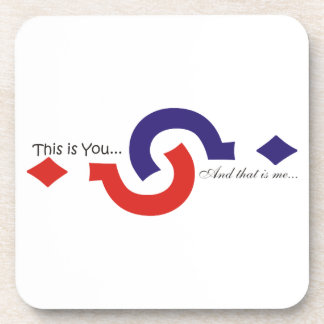 You & me souvenir beverage coaster