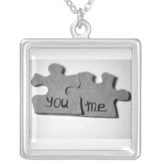you & me square pendant necklace