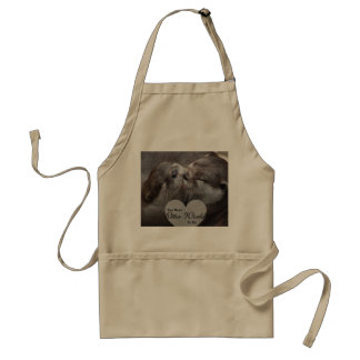 You Mean Otter World To Me Otters Love Kissing Standard Apron