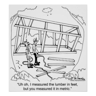 You Measured it In Meters & I In Feet Poster